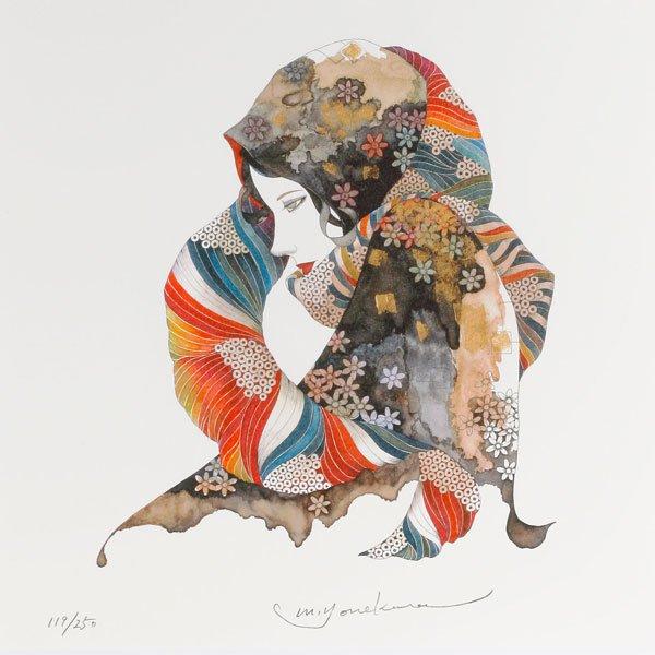 画像2: 花のスカーフをした女