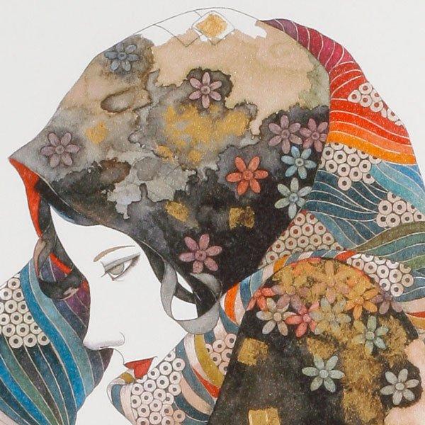 画像3: 花のスカーフをした女